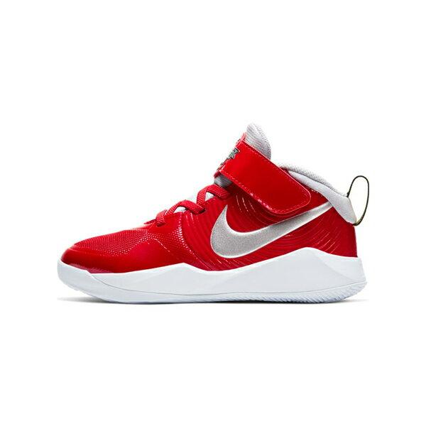 【NIKE】TEAM HUSTLE D 9 AUTO PS (黏扣帶) Car Series 童鞋 籃球鞋 紅 銀 中童 -CQ4278600