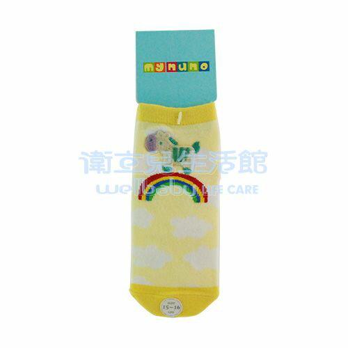 ★衛立兒生活館★MYNUNO 小馬襪(15-16cm)鵝黃