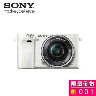 SONY ILCE-6000L/W 数码单眼相机/变焦镜组(白色)(全新拆封福利品)  剩1