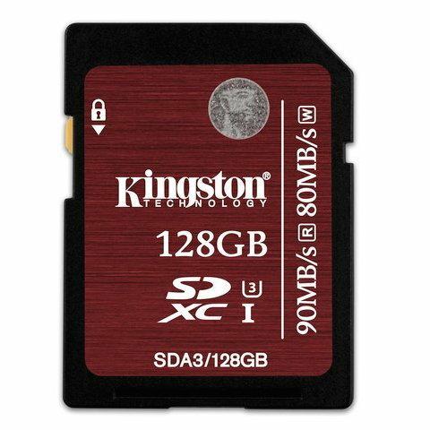 【新風尚潮流】金士頓 128G 128GB SDXC C10 UHS-I U3 記憶卡 SDA3/128GB