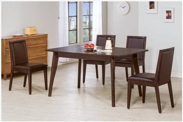【石川家居】YE-A465-03奧斯卡胡桃5尺餐桌(不含餐椅及其他商品)台北到高雄搭配車趟免運