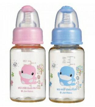 KUKU 酷咕鴨 新防脹氣PES標準奶瓶 140ml (藍)