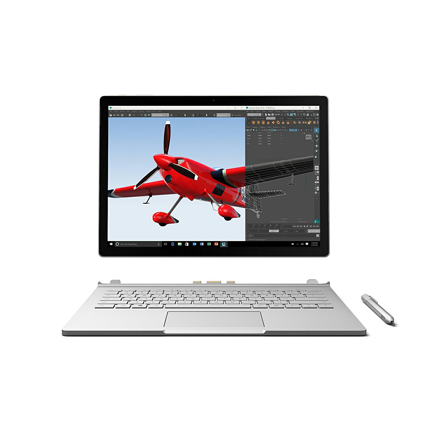 "Microsoft 13.5"" Surface Book Intel i7 512GB 16GB NVIDIA GeForce Windows 10 SW6-00001 1"