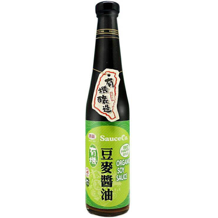 【味榮】有機豆麥醬油420ml