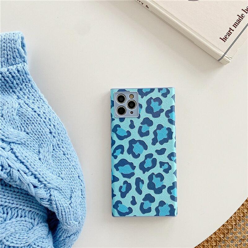 樂天精品 iPhone12 蘋果手機殼 預購 可掛繩 名媛粉藍豹紋 矽膠軟殼 i11/iX/i8/i7/SE
