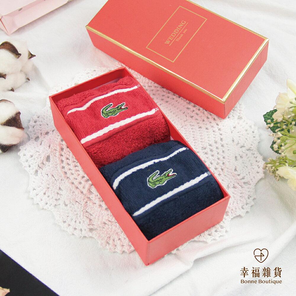 LACOSTE鱷魚手帕禮盒 伴郎禮 結婚禮品 男友生日 紀念日禮物 情人節禮物【\bBonne Boutique幸福雜貨】