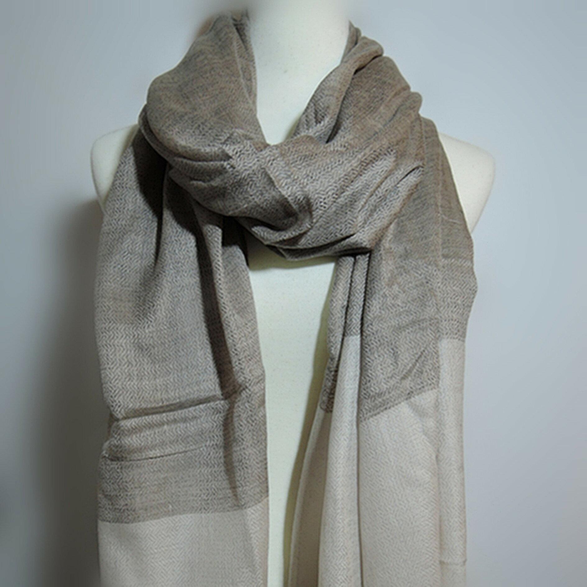 【喀什米爾圍巾】100%Pashmina鑽石編織珠光CASHMERE圍巾-(W10EIN020)