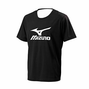 32TA701009(黑)吸汗快乾抗紫外線 大 LOGO 男短袖T恤【美津濃MIZUNO】