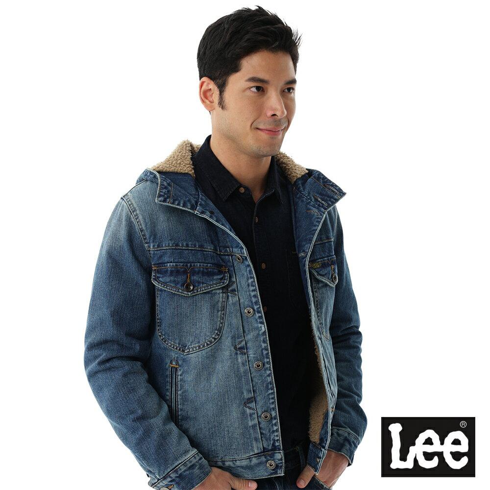 Lee 連帽牛仔外套 / 101+-男款-藍色 8