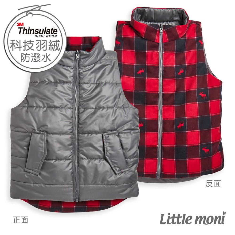 Little moni 3M科技羽絨保暖雙面穿背心-灰色 0