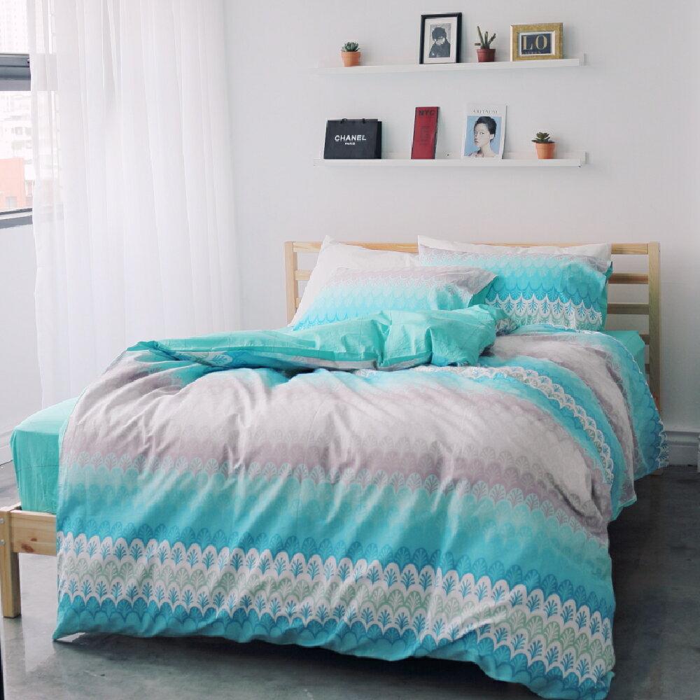 薄被套床包組-雙人-多款任選 /ikea海洋清新風格 ;100%精梳棉;  翔仔居家台灣製
