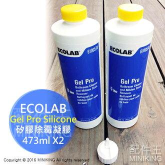 【配件王】新鲜货 一组两瓶 免运 送挤压头 ECOLAB Gel Pro 除霉凝胶 矽利康 发霉 长霉 浴室污垢 流理台清洁