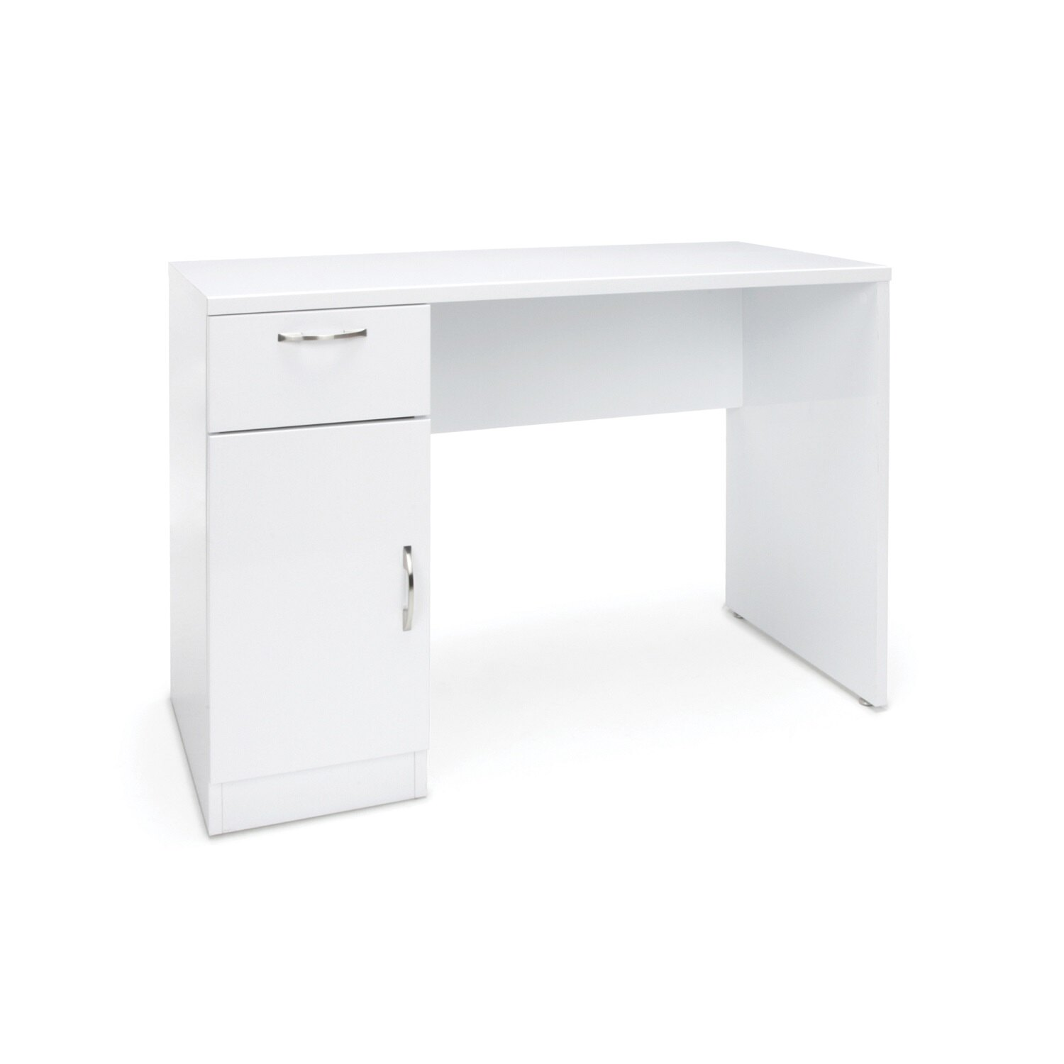 Essentials By Ofm Ess 1015 Single Pedestal Solid Panel Office Desk With Drawer And Cabinet