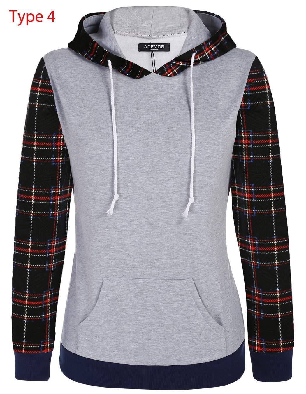 Women Long Sleeve Print Casual Hooded Pullover Hoodie 2