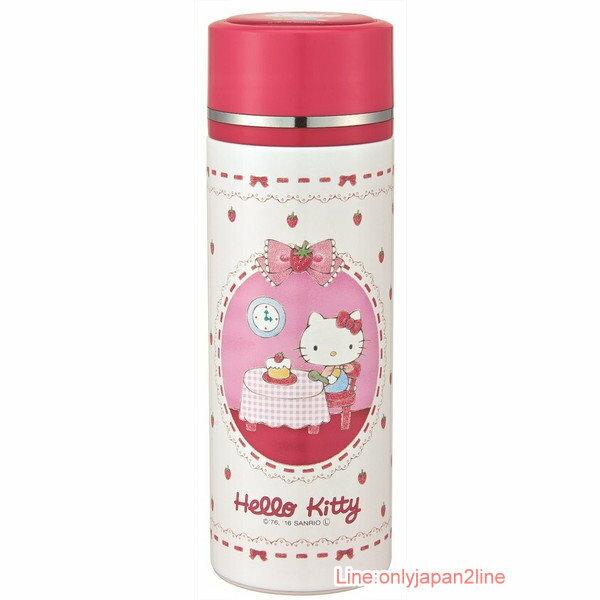 【真愛日本】17040100017 超輕量保溫冷水壺350ml-KT草莓 三麗鷗 Hello Kitty 凱蒂貓 水壺 茶壺 水瓶