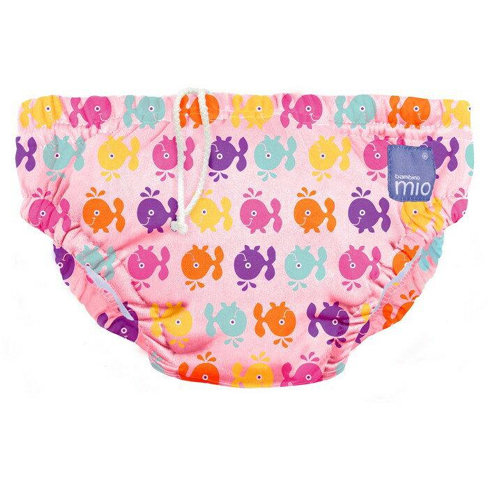 【淘氣寶寶】Bambino Mio 尿片泳褲- 小號 5-7 公斤 - 粉紅鯨魚 Pink whale【保證原廠公司貨】