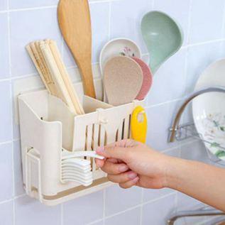 筷子筒筷子籠家用掛式筷籠快子筒筷籠子多功能架子廚房筷子桶瀝水