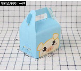 手提糕點盒生日蛋糕包裝盒西點盒子方形四寸慕斯盒烘焙包裝打包盒