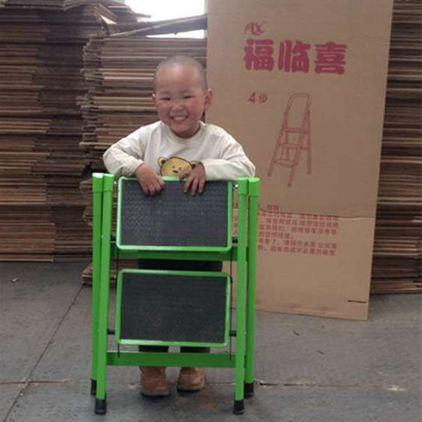 福臨喜家用小折疊梯凳二步梯TIZI加厚鐵鋼管踏板凳高人字梯子