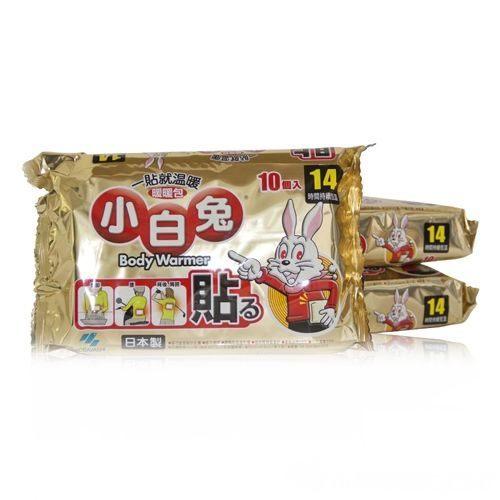 小白兔貼式暖暖包 14H 10個 限時特價中 [橘子藥美麗]