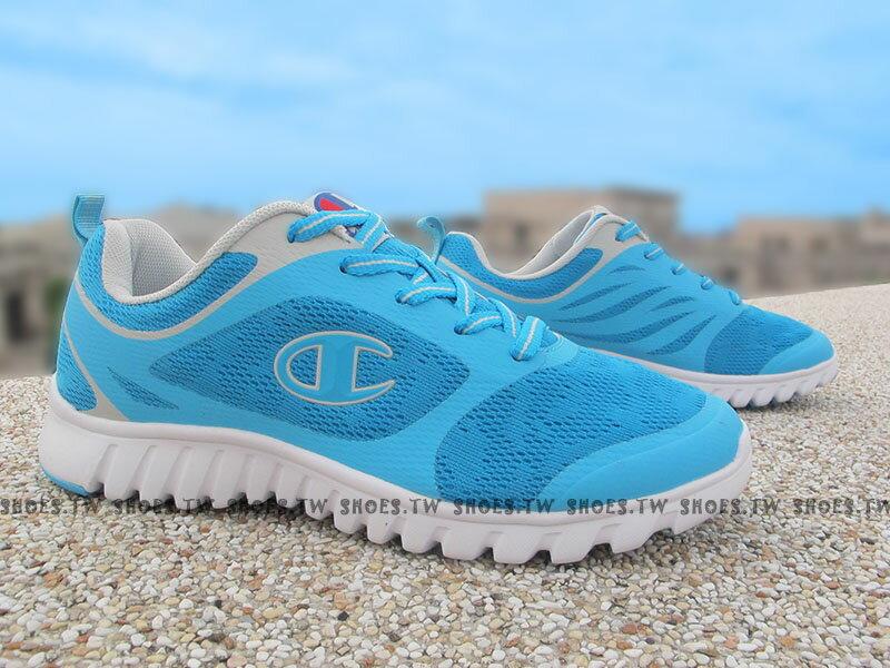 《限時特價990元》Shoestw【631220232】Champion 慢跑鞋 UrbanRun 水藍灰 網布 女生