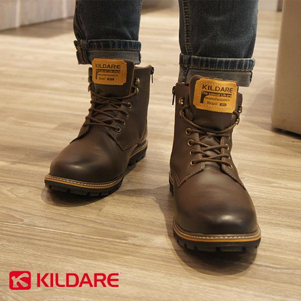 【Kildare促銷85折│全店免運】Kildare巴西中高筒綁帶休閒男靴深咖啡男