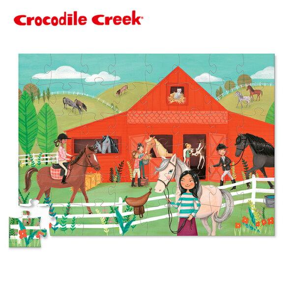 【美國CrocodileCreek】趣味寶盒拼圖系列-歡樂馬場