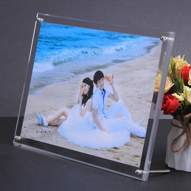 亞克力相框 亞克力水晶像片框婚紗藝術照片相框5678 1012寸DIY個性創意兒童擺 摩登生活