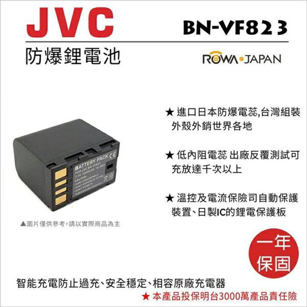 攝彩@樂華FORJvcBN-VF823U相機電池鋰電池防爆原廠充電器可充保固一年