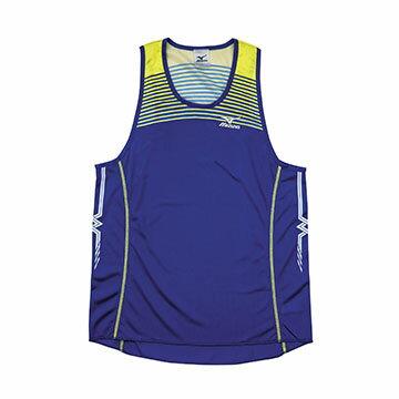 U2TA7A0116(深藍)超輕量柔軟高透氣吸汗快乾 RUNNING 男田徑背心 【美津濃MIZUNO】