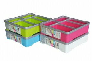 KEYWAY聯府P20136金砂6號文具盒(收納盒文具盒分類盒雜物盒多用盒飾品盒台灣製造物品盒)