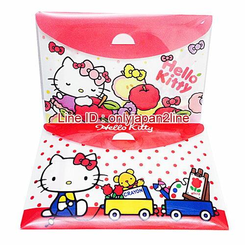 【真愛日本】14050800009橫式方便MEMO包-KT2款   三麗鷗 Hello Kitty 凱蒂貓  便條紙 信紙 收納夾