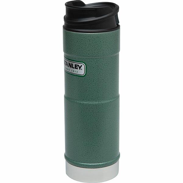 ├登山樂┤ 美國 Stanley 經典系列 單手保溫咖啡杯 0.47L-錘紋綠 # 10-01394-GN 1