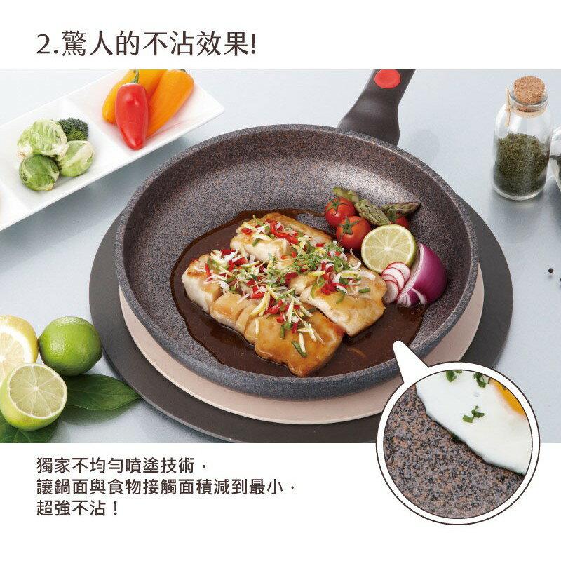韓國 Chef Topf 崗石系列耐磨不沾煎鍋 28 公分/韓國製造/不沾鍋/洗碗機用/耐用崗石/方鍋 4