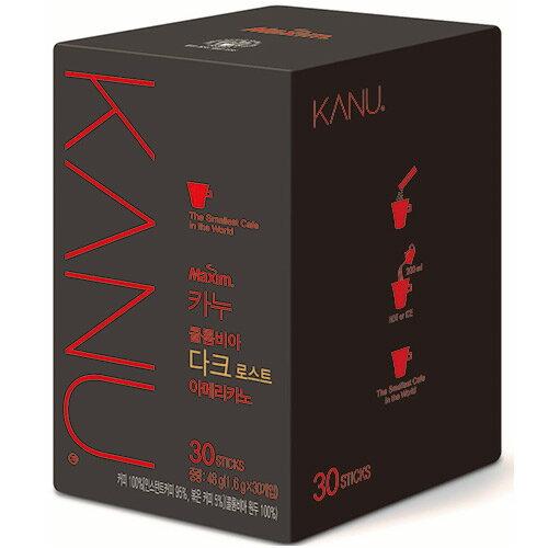<br/><br/>  韓國KANU美式黑咖啡1.6g*30入/盒【愛買】<br/><br/>