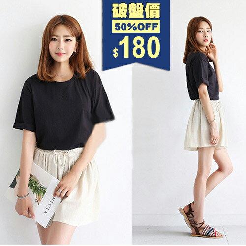 短T-素色簡約時尚寬鬆T恤 包飾衣院 Y1038 現貨+預購(附發票)