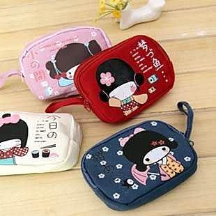 =優生活=韓國文具 安古奈子 雙拉鍊零錢包 zakka雜貨手機包 錢包