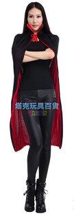 塔克玩具百貨:披風披肩俠女斗篷立領0.8米(雙面穿兒童款)死神吸血鬼披風雙色披風雙層披風【塔克】