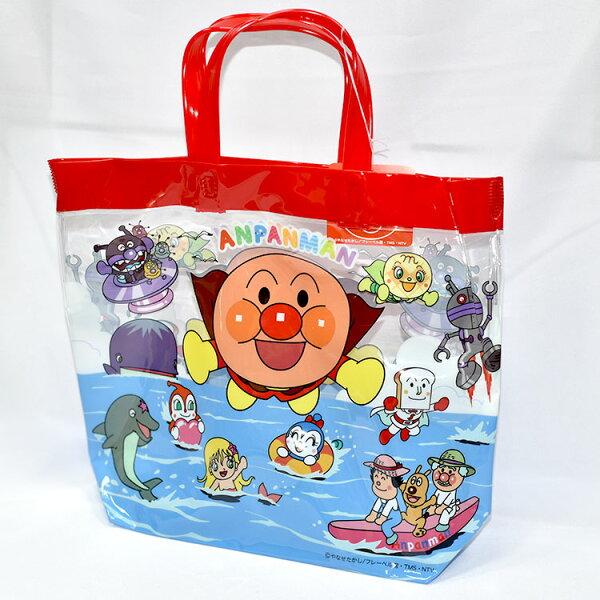 麵包超人紅色PVC海灘袋文具袋手提袋日本帶回正版商品