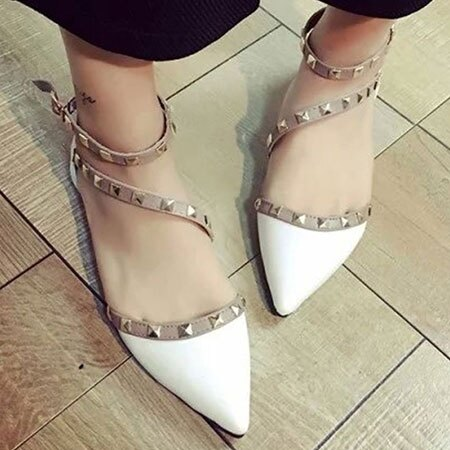 涼鞋 歐美性感鉚釘造型尖頭鞋【S1658】☆雙兒網☆ 5
