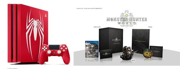 現貨供應中公司貨一年保固[PS4主機]漫威蜘蛛人PS4Pro特仕主機同梱組+魔物獵人世界典藏版