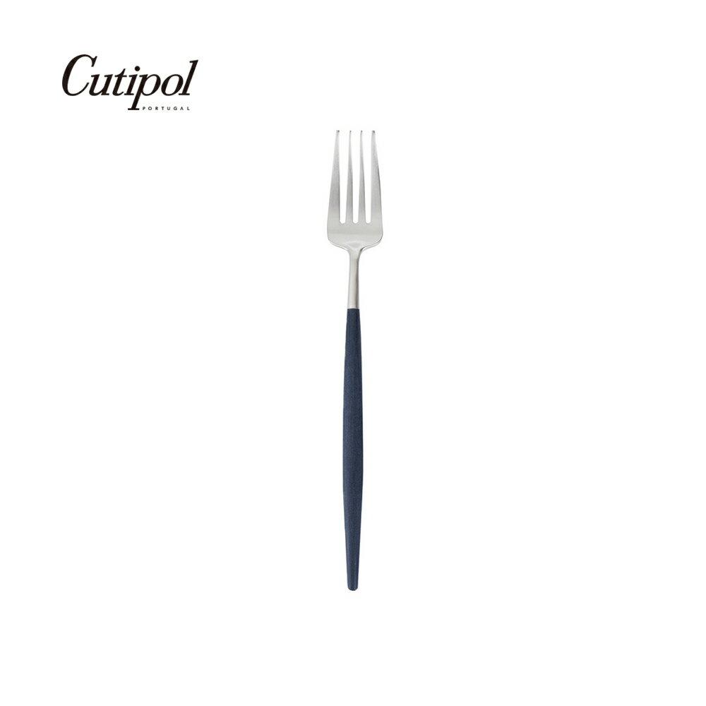 葡萄牙 Cutipol GOA系列藍銀18.5cm點心叉
