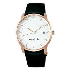agnes b VJ42-KZ30Z(BS9001J1) 法式時尚經典腕錶/白面38mm
