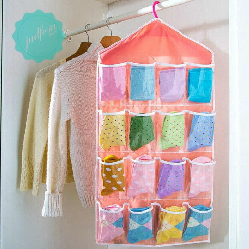 16格收納掛袋 十六格 牆上壁掛式收納 雜物收納袋 內衣褲襪子 掛式門後收納掛袋 收納袋 隔層 收納 吊掛