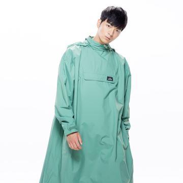 MORR時尚機能風雨衣 - 連身雨衣 PostPosi反穿雨衣 青石綠