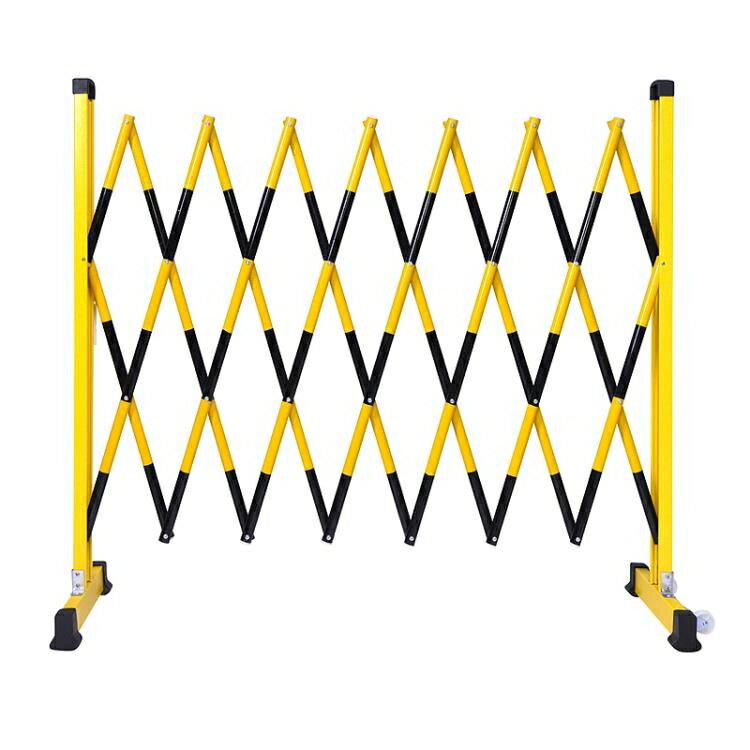 伸縮欄 玻璃鋼伸縮圍欄管式絕緣安全隔離可移動折疊硬質電力施工防護欄桿