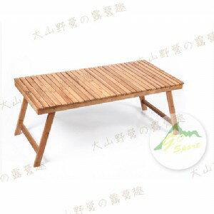 【露營趣】中和安坑 GO SPORT 98007 竹製點心桌 野餐桌 料理桌 竹板桌 摺疊桌 小茶几