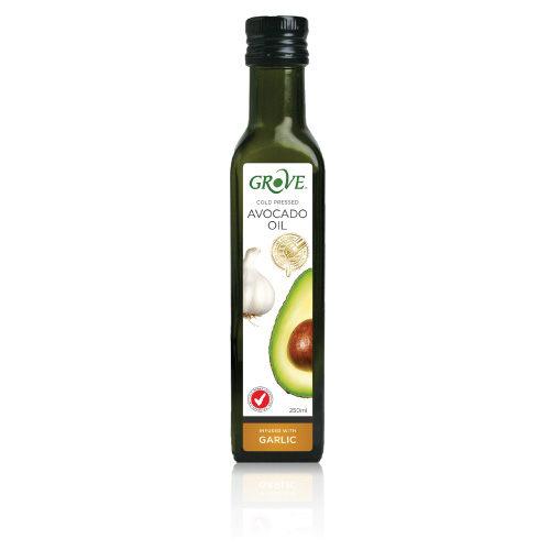 GROVE 100%特級初榨冷壓酪梨油 (大蒜風味) 第一道冷壓初榨250ml/瓶