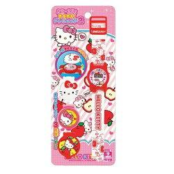 【真愛日本】17092700001 兒童電子錶-3款錶蓋蘋果 三麗鷗 kitty 凱蒂貓 手錶 電子錶 小朋友最愛