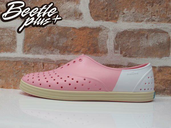 《下殺$1499》BEETLE PLUS 全新 2015 NATIVE JERICHO 粉白 草莓牛奶 奶油底 超輕量 女鞋 修身鞋 GLM04W-5949 0